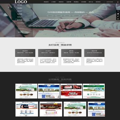 网络科技公司网站模板源码下载
